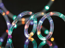 12m Multi Coloured LED Christmas Party Indoor Outdoor Flashing Rope Light New