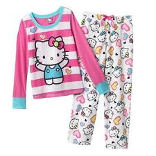 NWT-HELLO KITTY SANRIO SLEEPWEAR PJ'S SET S (4-6) 2 PCS