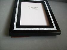 NATALINI PICTURE FRAME ITALY BLACK WOOD PEARL  PHOTO SIZE  5x7'' HANDMADE