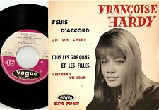 FRANCOISE Françoise HARDY J`SUIS D`ACCORD EP GERMAN 45+PS 1963 MOD GIRL BEAT