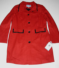 Jaclyn Smith Wool Funnel Neck Coat, Maroon, size Large, New w/Tag!