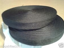 50 Metre Roll of Black Polyester Apron Tape 19mm Wide