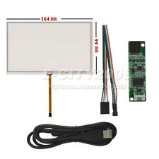 """7"""" 4 Wire Resistive Touch screen Panel Digitizer/USB Kit For AT070TN93 AT070TN92"""