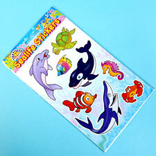 12 Packs Sealife Ocean Animals Fun Sticker Set - Children's Party Bag Fillers