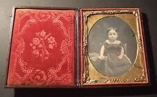 STUNNING AMERICAN 1/4 PLATE DAGUERREOTYPE OF A LITTLE GIRL