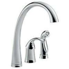 NEW DELTA USA 4380DST HIGH ARC SINGLE HANDLE KITCHEN FAUCET CHROME WITH  SPRAY