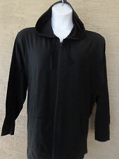 New Just My Size Light Weight Slub Clotton Zip Up Hoddie Jacket 3X Black