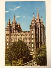 Mormon Temple Salt Lake City LDS Church, Utah UT Chrome Postcard Unused