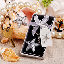 1 starfish key chain wedding favors beach theme party bridal shower Favor