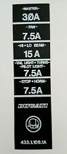 DUCATI 900 750 SUPERLIGHT MK1 MODEL FUSE BOX DECAL
