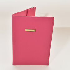 New With Tag H&M Pink Women Leather Passport Book Card Holder Purse Bag Wallet