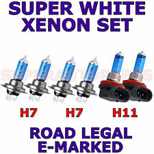 FITS CITROEN C CROSSER 2007-ON  SET  H11  H7  H7   XENON SUPER WHITE LIGHT BULBS