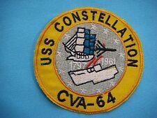 VIETNAM WAR NAVY YE PATCH USS CONSTELLATION CVA - 64 AIRCRAFT CARRIER