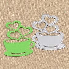 Liebe Kaffee Stanzschablone DIY Basteln Prägeschablone Kreative Karte Cutter Neu