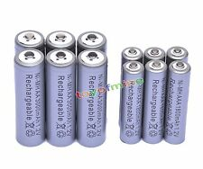 6x AA 3000mAh + 6x AAA 1800mAh 1.2V NI-MH Rechargeable Battery 2A 3A Grey Cell
