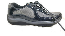 PRADA Mens Sneakers Laces casual 10 US /9 UK M Blue Patent leather Gray mesh