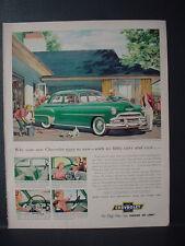 1952 Chevrolet Styleline De Luxe 2-Door Sedan Vintage Print Ad 11178
