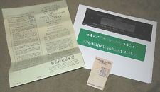 VINTAGE SPEED-O-PRINT LETTERING GUIDE Number 126 with original box and receipt