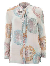 GALLIANO 100% Italian Silk Blouse BNWT