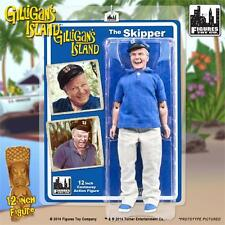 GILLIGANS ISLAND; THE SKIPPER, 8 INCH ACTION FIGURE , FIGURES TOY CO NEW MOSC