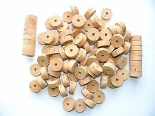 "100 CORK RINGS OVERSTOCK FLOR 11/4""X1/2"" BORE 1/4""  ---- FREE SHIP"