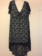 NEW TORRID High Low Lace Dress Size 3X 3 Short sleeve Casual Black Plus Curvy