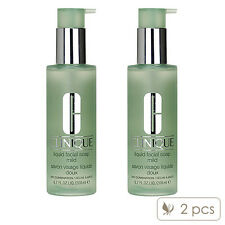 2 PCS Clinique Liquid Facial Soap 200ml x 2= 400ml Cleanser Mild Dry Comb#5552_2