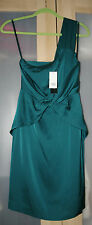 Banana Republic Women's One Shoulder Silk Dress in Teal - Sz 0 (NWT)