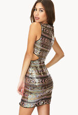 NWT FOREVER 21 SIDE CUT OUT SEQUIN PARTY DRESS M