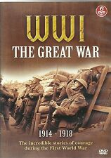 WW 1 THE GREAT WAR - 6 DVD BOX SET - 1914 - 1918 COURAGE DURING WORLD WAR ONE
