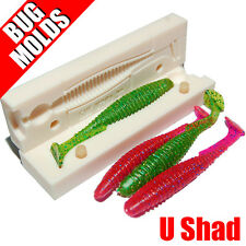 Soft Lure Mold U-Shad 3 inch Swimbait Minnow Shad Bugmolds for Plastisol