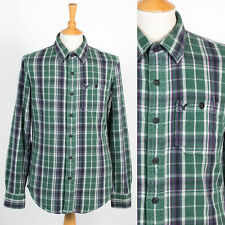 MENS AMERICAN EAGLE OUTFITTERS GREEN CHECK SHIRT THICK COTTON WARM S