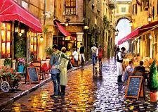 Puzzle Straßencafés, 8000 Teile, Kunst, Italien, Romantik, mediterran, Educa
