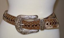 BB Simon Beautiful  Swarosky Crystals, Brown Cowhide hair, silver studs, size M