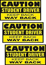 """STUDENT DRIVER - 6X12"""" MAGNETIC SIGNS - 3 pack"""