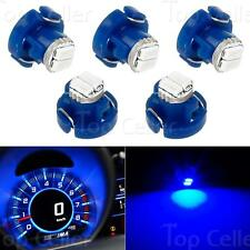 5x T3 Neo Wedge 8mm 12V 2 SMD LED Light Bulbs AC Climate Dashboard Blue Lamp