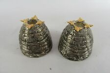 Genuine Godinger Bee Hive Matching Candle Stick Holders Set of 2