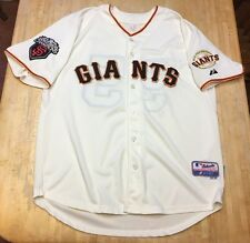Mens Majestic San Francisco Giants Tim Lincecum World Series 2010 Jersey Size 54
