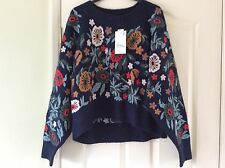 Zara Embroidered Jumper Size Medium Limited Edition Sold Out!
