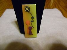 Lucinda People Pin Green, Purple, Blue and Pink with a Kite