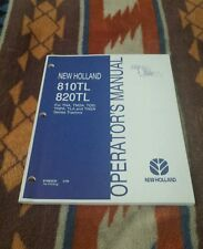 New Holland 810TL 820TL Operator's Manual 2006 for tractors Nice