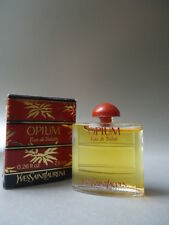 OPIUM YVES SAINT LAURENT EDT 7.5ml MINIATURE VINTAGE 1980s NEW IN BOX & FABULOUS