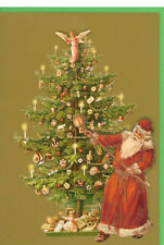 36 Handcrafted Decoupage Victorian Die-cut Tree Christmas Cards