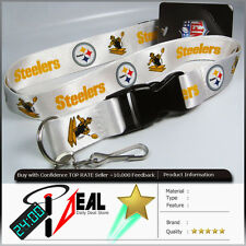 NFL PITTSBURGH STEELERS OFFICIAL LANYARD KEY CHAIN WH