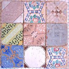 9 riggiole mattonelle piastrelle antiche Sicilia ottocento storiche mis20x20 151