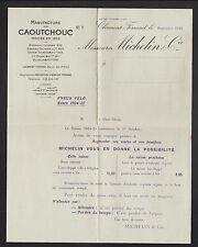"""CLERMONT-FERRAND (63) USINE / PNEUS pour VELO """"MICHELIN & Cie"""" Tarifs en 1924"""