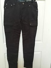 Miss Me Cargo Jeans Skinny CP1246A SZ 27x29 Military MSRP $89 Color GREY