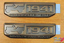 2016 Jeep Wrangler Set Of 2 Willys 75th Anniversary 1941 Emblem Badge OEM