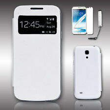 Ultra Slim S VIEW Case Window Flip Cover For Samsung Galaxy S4 Mini w/ Pen+Film