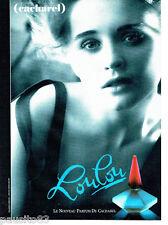 PUBLICITE ADVERTISING 046  1988   Loulou  parfum Cacharel par Sarah Moon *